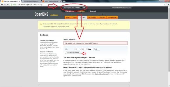 Como configurar o OpenDNS Passo121